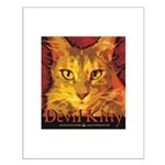 Devil Kitty Cat Small Poster