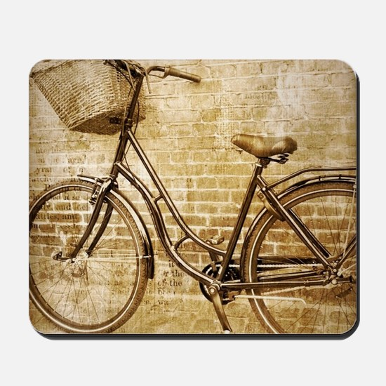 vintage Bicycle fashion art Mousepad
