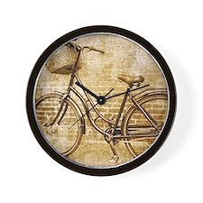 vintage Bicycle fashion art Wall Clock