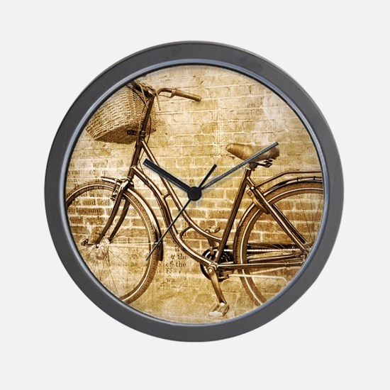 vintage Bicycle fashion art Wall Clock