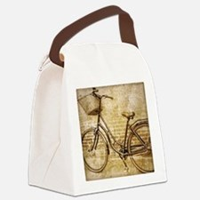 vintage Bicycle fashion art Canvas Lunch Bag