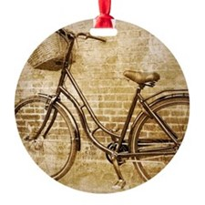 vintage Bicycle fashion art Ornament
