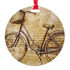 vintage Bicycle fashion art Round Ornament