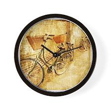 vintage Bicycle retro art Wall Clock