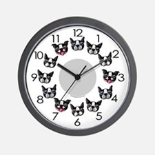 Furry Faces Wall Clock