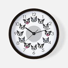 Furry Faces Wall Clock