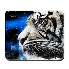white tiger stars fashion Mousepad