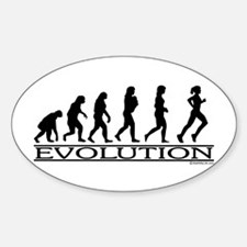 Evolution (Female Running) Oval Decal