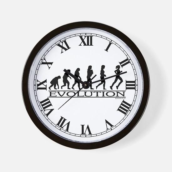 Evolution (Female Running) Wall Clock