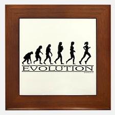 Evolution (Female Running) Framed Tile