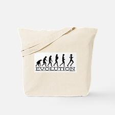 Evolution (Female Running) Tote Bag