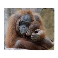 OrangUtan001 Throw Blanket