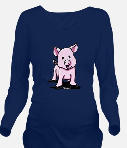 Chatty Pig Long Sleeve Maternity T-Shirt