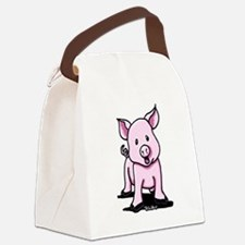 Chatty Pig Canvas Lunch Bag