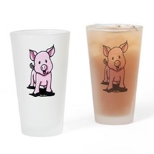 Chatty Pig Drinking Glass