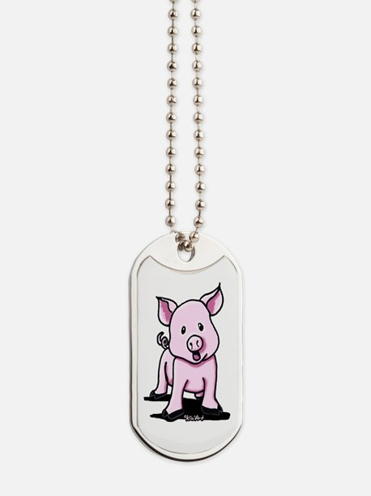 Chatty Pig Dog Tags