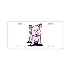 Chatty Pig Aluminum License Plate