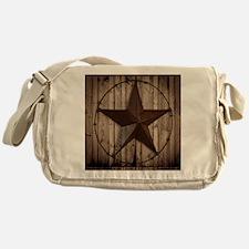 barnwood texas star Messenger Bag
