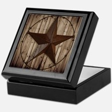 barnwood texas star Keepsake Box
