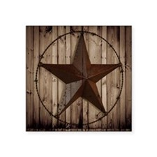 "barnwood texas star Square Sticker 3"" x 3"""