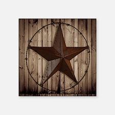 "barnwood texas star Square Sticker 3"" x 3"""