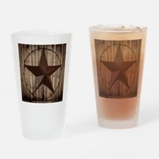 barnwood texas star Drinking Glass
