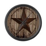 Barnwood texas star Giant Clocks