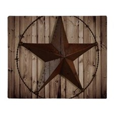 barnwood texas star Throw Blanket