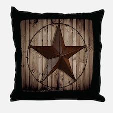 barnwood texas star Throw Pillow