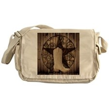 cowboy boots texas star Messenger Bag