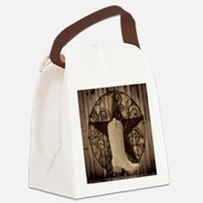 cowboy boots texas star Canvas Lunch Bag