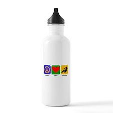 Peace Love Cycling Sports Water Bottle