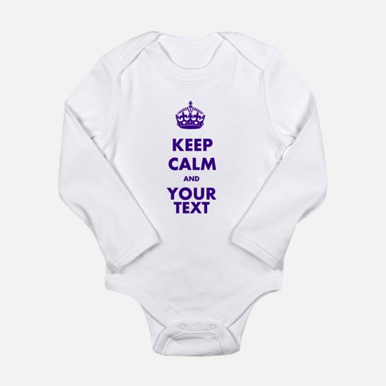 Personalized Keep Calm Onesie Romper Suit