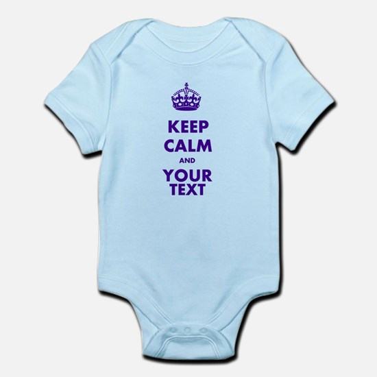 Personalized Keep Calm Infant Bodysuit