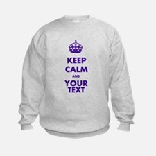 Personalized Keep Calm Sweatshirt