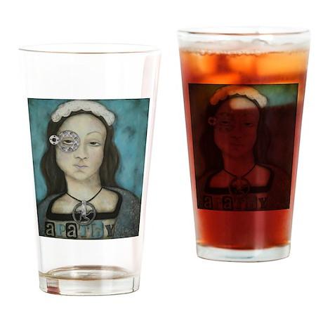 Girl Series: Apathy Drinking Glass