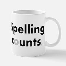 Spelling counts. Mugs