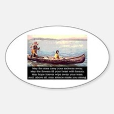 THE WISDOM OF SILENCE Sticker (Oval)