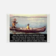 THE WISDOM OF SILENCE Rectangle Magnet