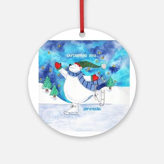 Personalized Polar Bear Skating Ornament
