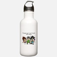 Friends and Wine Water Bottle