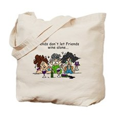 Friends and Wine Tote Bag