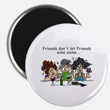 Friends and Wine Magnet