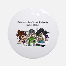 Friends and Wine Ornament (Round)