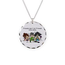 Friends and Wine Necklace