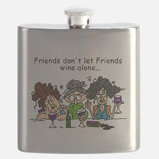 Friends and Wine Flask