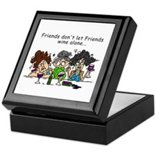 Friends and Wine Keepsake Box