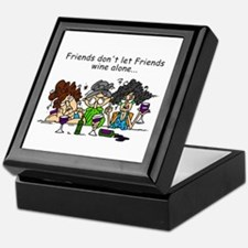 Friends and Wine Keepsake Box