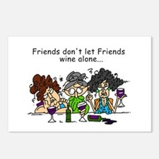 Friends and Wine Postcards (Package of 8)