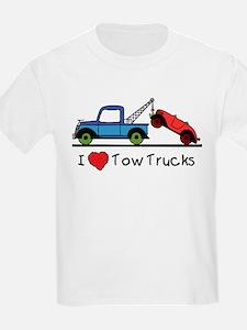 I Love Tow Trucks T-Shirt